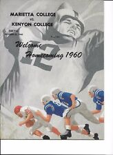 Kenyon at Marietta College football program, 1960 homecoming
