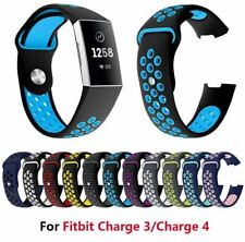 Band Strap Double Color Silicone Wristband Replacement For Fitbit Charge 3