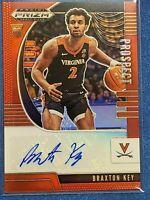 2020-21 Prizm Draft Picks Braxton Key Red Prizm Rc Auto Virginia Cavaliers /199