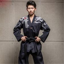 Adult Men Women Master Taekwondo Uniforms Dobok Tae Kwon Do Trainer Suit