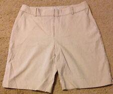 Talbots P10 Beige/ivory Pin Striped Heritage Walking Shorts