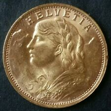 1947 B Switzerland 20 Francs Gold