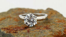 1.50 Ct Forever Brilliant Off White Moissanite Solitaire Engagement Ring