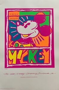 Walt Disney MICKEY MOUSE Limited Edition Serigraph Art Fresh Mouse 1998