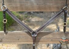 "Circle Y 1 1/2"" Breast Collar Stainless Steel Spots - Walnut"