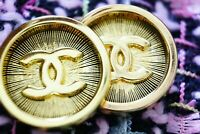 2 TWO STAMPED Ptice for 2Vintage Chanel Buttons gold  21 mm💋💋 cc0,8 inch