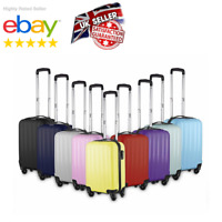 Small 4 Wheel Suitcase Travel Cabin Bag Carry On Hard Case Hand Luggage