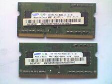 2 SAMSUNG M471B2873EH1-CF8 (1GB DDR3 PC3-8500S 1066MHz SODIMM 204-pin) DRAM - V.