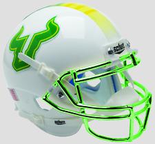 SOUTH FLORIDA BULLS NCAA Schutt Authentic MINI Football Helmet USF (CHROME)