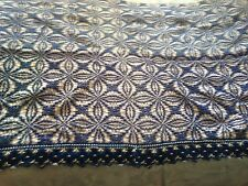 Beautiful Vintage Hand-Woven Sheet With Handmade Lace