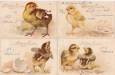 Fröhliche Ostern Lot 4 AK 1899 Küken Easter Chickens 1703176