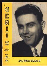 Genii May 1947 Volume Ii Number 9 Louis William Chaudet Ii