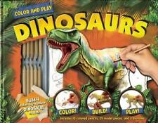 NEW Color and Play: Dinosaurs [With Model Pieces to Build 4 Dinosaurs