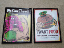 Lot of 2 Mattel Food Fighters 18x24 Art Prints by Anthony Petrie