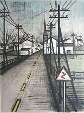 "Bernard Buffet, Large 34""x 23"" Lithograph,""The Road"", Hand Signed, 132/220, 1961"