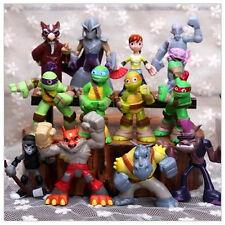 12Pcs/Set Teenage Mutant Ninja Turtles Movie 2 Classic Decoration Toy Model Gift