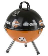 Harley-Davidson Bar & Shield Logo Portable Charcoal Grill - Black & Orange