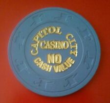 CAPITOL CITY CASINO $100.00 NO CASH VALUE CHIP GREAT FOR ANY COLLECTION!