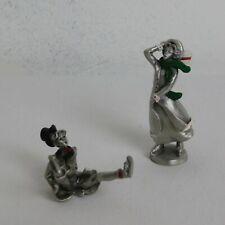 Hudson Pewter 1987 Larocca Villagers Alice & Freddy Ice Skating #4206 & 4207