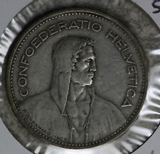 Nice 1932B 5 Francs Switzerland Silver Coin