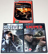 3 pc jeux collection-sniper path of vengeance & art of victory & sniper elite
