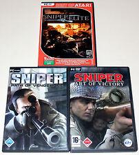 3 PC SPIELE SAMMLUNG - SNIPER PATH OF VENGEANCE & ART OF VICTORY & SNIPER ELITE
