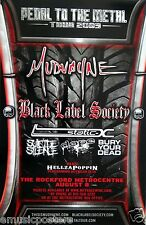 MUDVAYNE/ BLACK LABEL SOCIETY/ SUICIDE SILENCE 2009 ROCKFORD, IL  CONCERT POSTER
