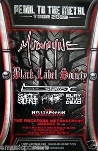 MUDVAYNE / BLACK LABEL SOCIETY/ SUICIDE SILENCE 2009 ROCKFORD, IL CONCERT POSTER