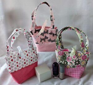 Gift Bag - Party Bag - Favor Bag - Fabric - Ribbon Closure - Reusable - Handmade