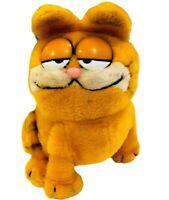 Vintage Garfield Dakin 1981 Garfield Plush Sitting Grumpy Cat Stuffed Animal EUC