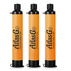 3 Pack Personal Survival Water Filter Straw Purifier Hiking Camping Emergency photo