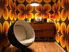 Retro 70s Big Circle Wallpaper Brown Orange Yellow Paste The Wall AS Creation