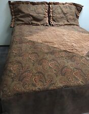 """Custom Made Bed Cover & Shams(2) RV Motorhome Suede Tapestry & SW Fabric 61x80"""""""
