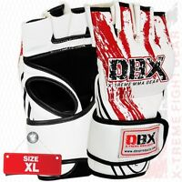 MMA Grappling Gloves UFC Cage Fight Mix Boxing Punch Bag Mitt XL - DBX