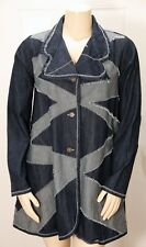 NWT - CYNTHIA ASHBY - ECHO JACKET - COLORBLOCK DENIM - SEE MEASUREMENTS FOR SIZE
