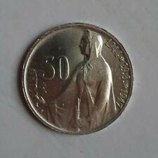 Tschechoslowakei  50 Korun 1947 Silber  Slowakischer Aufstand