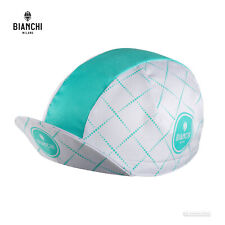 Bianchi Milano NEON Classic Cycling Cap : WHITE/CELESTE - MADE IN iTALY