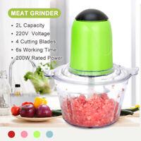 2L Electric Meat Grinder Blender Food Chopper Processor Fruit Vegetable 220V O