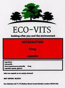 Astaxanthin 12mg 120 Capsules