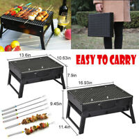 BBQ Charcoal Grill Folding Portable Lightweight Barbecue Camping Hiking Picnics