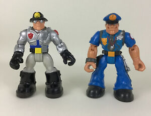 Rescue Heroes Action Figure Sergeant Siren Willy Stop Police Officer 1998 Mattel