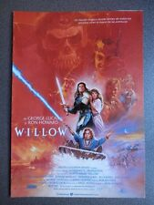 GUIA DE CINE 2 HOJAS: WILLOW - GEORGE LUCAS Y RON HOWARD