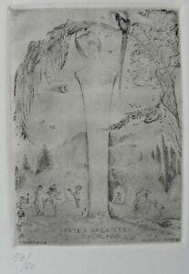 Alberto MARTINI (Oderzo Treviso 1876–Milano 1954) FETES GALANTES - VERLAINE n. 2