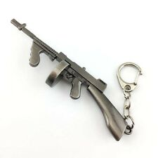 Mini Assault Rifle Thompson Submachine Gun Key Ring Miniature Tommy Gun Keychain