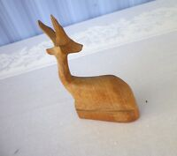 "Hand carved Wood Antelope / Gazelle Made in Kenya Statue 6"" Figurine"