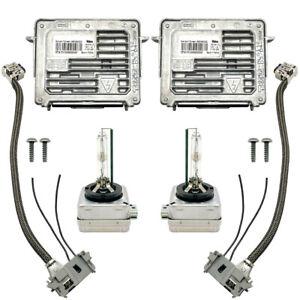 2x OEM 13-17 Buick Enclave Xenon Ballast & D3S Light Bulb Wire Kit Control Unit