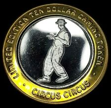 CIRCUS CIRCUS LIMITED EDITION $10 .999 FINE SILVER STRIKE - POINTING CLOWN
