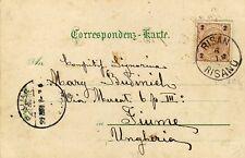 1899 cartolina col 2 Kr. - annullo di Risan Risano per Fiume - Austria