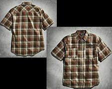 Harley-Davidson Plaid Cotton Blend Men's Casual Shirts & Tops