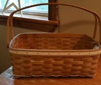 Longaberger 2010 All Together Basket in Warm Brown and Whitewashed Stain